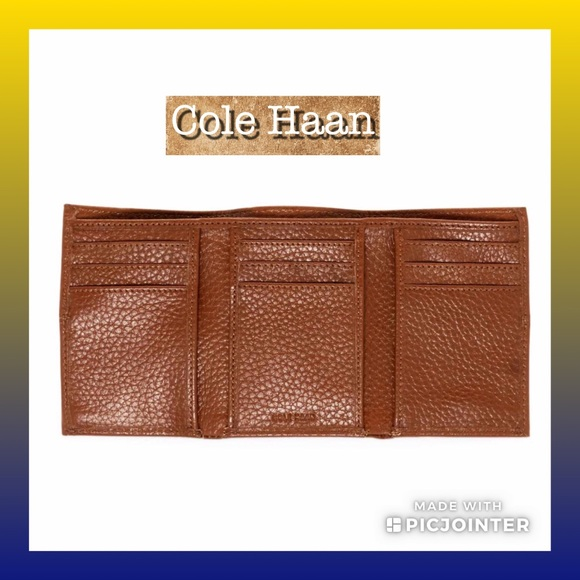 Cole Haan Other - (L) MEN'S WALLET▪️Pebbled Leather Tri-Fold
